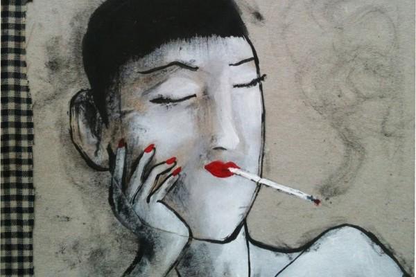 femme fume